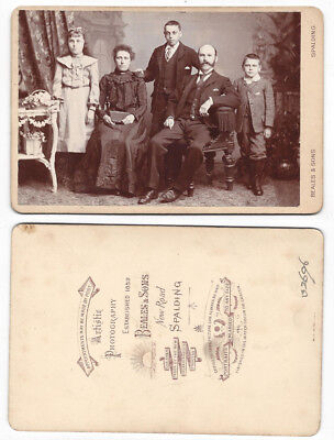CABINET CARD Photograph Victorian Family by Beales of Spalding