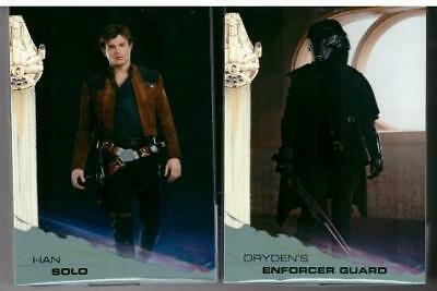 2018 Topps Solo A Star Wars Story 100 Card Silver Parallel Set + Surprise Item