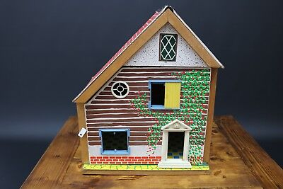 Vintage Doll Play House Dollhouse House Playhouse Antique Collectible