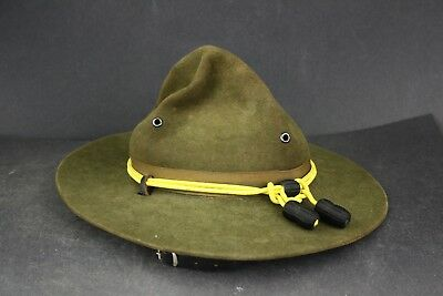 Vintage John B. Stetson 3X Felted Beaver Fur United States Army Campaign Hat