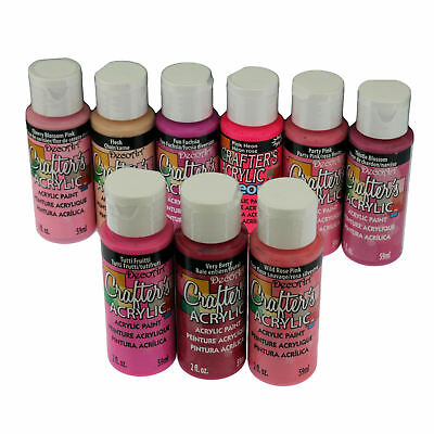 DecoArt Crafter's All Purpose Acrylic Paint 59ml - Pink Colours