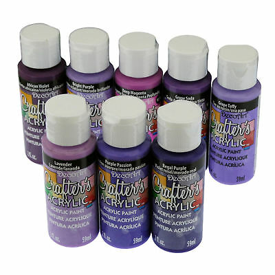 DecoArt Crafter's All Purpose Acrylic Paint 59ml - Purple Colours