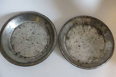 Pair of Vtg Mrs Smiths Mello Rich Pie Plates Vented 9.5 Inches