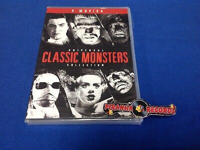 Universal Collection Classic Monsters 6 Movies SEALED DVD Piranha Records