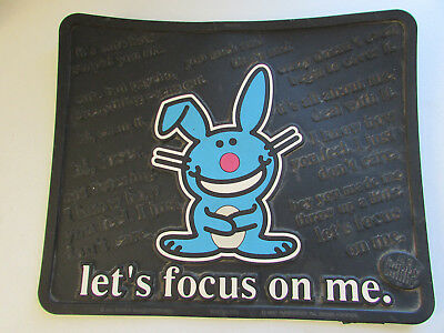 The Happy Bunny Let's Focus On Me Rubber Floor Mat 13 1/2 X 16 1/2 Made In Usa