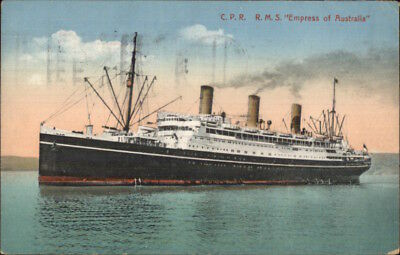 CPR Steamship RMS Empress of Australia 1925 Used Postcard