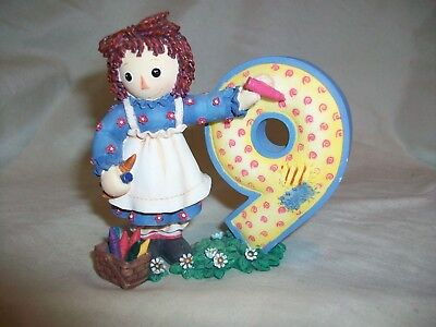 Simon Schuster Enesco Raggedy Ann Being Nine is Really Fine Figurine 9 Birthday