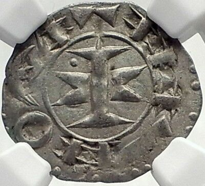 1000-1300AD FRANCE Medieval Melgueil Maguelonne Counts SILVER Coin NGC i70018