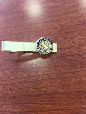 Vintage state Of California 25 Year  Employee Service Tie Clip