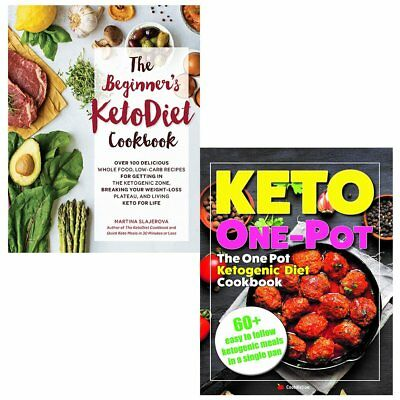 One Pot Ketogenic Diet Cookbook Beginner's KetoDiet 2 Books Collection Set NEW