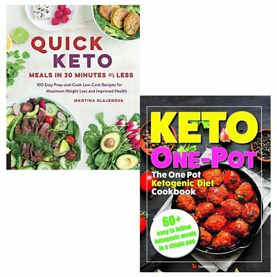 One Pot Ketogenic Diet Cookbook Quick Keto Meals 2 Books Collection Set NEW