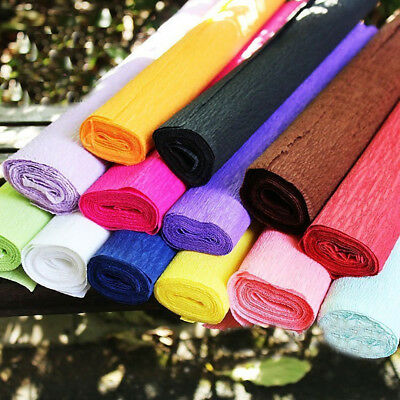 Crepe Paper 2.5 Metres x 50cm Various Colours For Art & Crafts Gift Wrapping