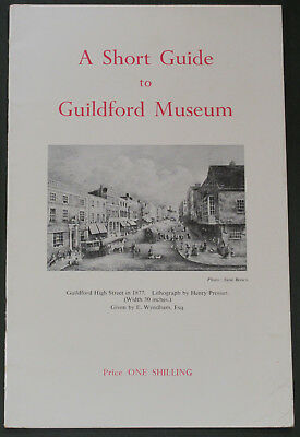 GUILDFORD MUSEUM SHORT GUIDE - Published 1960 Surrey Building Collections Items