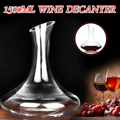 Luxurious Glass Crystal Wine Decanter Elegant Pourer Red Wine Carafe 1500ML Home