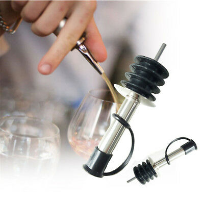 1/3PCS Wine Pourer Stopper Stainless Steel Olive Dispenser Bottle With Mouth