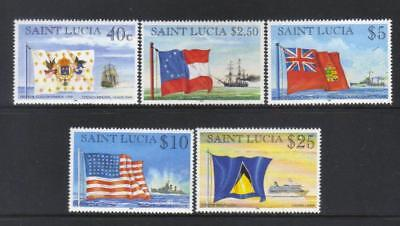 St Lucia  1996 Flags And Ships 5 Mh Values Cat £30+