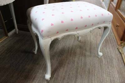An Antique White French Bedroom Stool - Dressing Table in another Listing