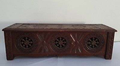 Vintage Brittany, French Turned Wood Lidded Box - Treen Breton