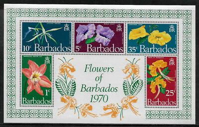Barbados #352a Mint Never Hinged S/Sheet - Flowers