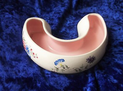 Vintage Collectable Crescent Posy Trough Vase Morning Glory Pink Inner Axe Vale