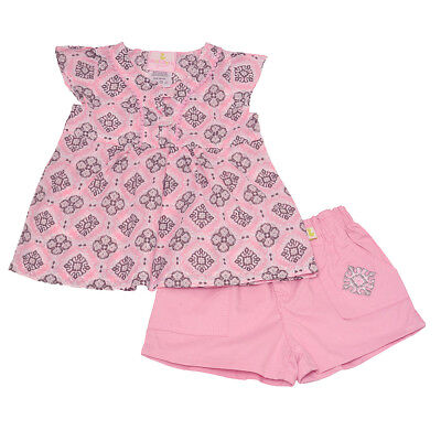 2377288bc67 Duck Duck Goose Baby Girls Pink Motif Print A-Line Top 2 Pc Shorts Outfit