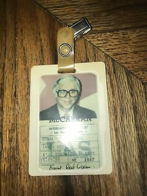 McCarran International Airport ID Badge Red Viens Sands Hotel Las Vegas Nevada