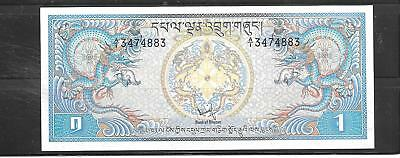 Bhutan #5 1981 Unc Ngultrum Old Banknote Paper Money Currency Bill Note