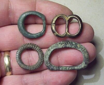 Dug 4 Nice Medieval Buckles 1200's/1400's  Metal Detecting Finds