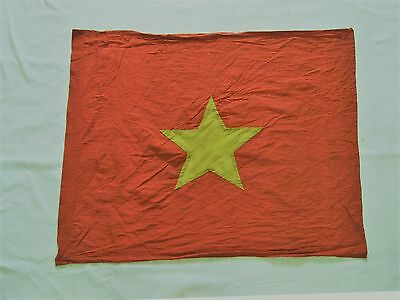 COMMUNIST flag , VC FLAG  - NVA ,   NLF,   red flag with YELLOW star , VN WAR