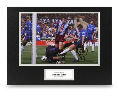 Dennis Wise Signed 16x12 Photo Display Chelsea Autograph Memorabilia + COA