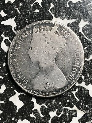 1883 Great Britain Gothic Florin Lot#X5791 Silver!