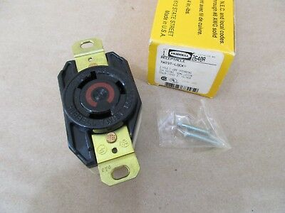 Hubbell 2640A Twist Lock Receptacle 30 Amp 480V 2 Pole 3 Wire Grounding L8-30R