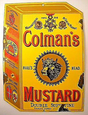 Colman's Mustard Box Porcelain Sign