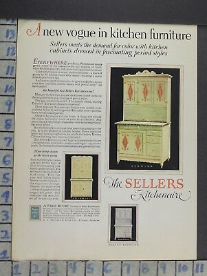 1927 Sellers Kitchen Cabinet Wife Cook Furniture Home Decor Vintage Ad  Cn35