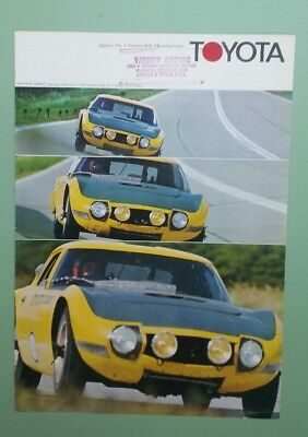 1968 Toyota full line brochure with 2000GT