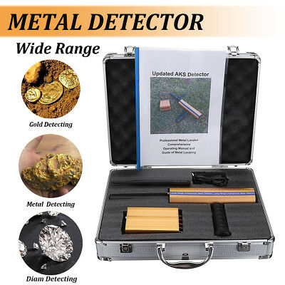 AKS Handhold 1200M Metal Detector Locator Scanner Gold Mineral Detecting Antenna
