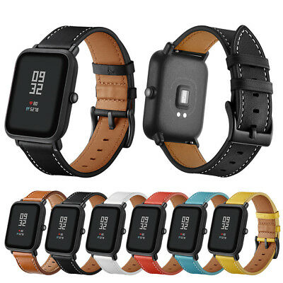 NEW Genuine Leather Watch Band Wrist Straps Bracelet for Huami Amazfit Bip Youth