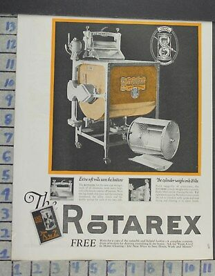 1923 Home Decor Laundry Room Rotarex Wringer Washer Cleaning Vintage Ad Cp13