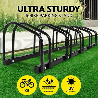 1 – 5 Bike Floor Parking Rack Instant Storage Stand Bicycle Cycling Portable