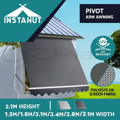 Instahut Retractable Fixed Pivot Arm Awning Patio Garden Blinds 5 Models
