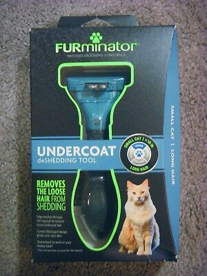 Furminator Undercoat Deshedding Tool (Head + Handle) For Cats Long Hair S