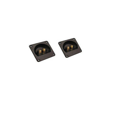 Pair of Gold Plated Binding Post Car Speaker Subwoofer Box Terminals