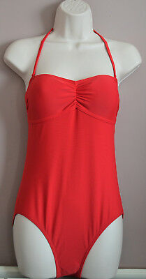cebf586afa M&S LIMITED EDITION Red Halterneck Bandeau Swimsuit - $19.50 | PicClick