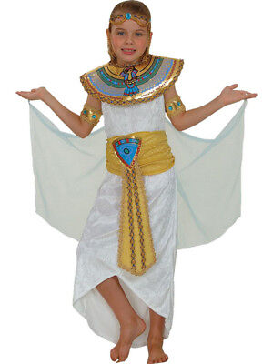 Girls Egyptian Queen Costume Childs Cleopatra Fancy Dress Kids History Outfit