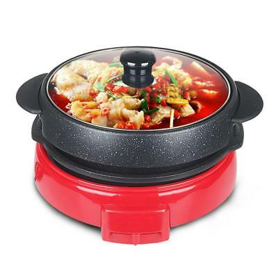 SOGA 2 in 1 Electric Steamboat Hotpot Teppanyaki Asian Hot Pot Soup Maker Fondue