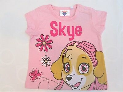 Baby Girl Toddler Paw Patrol T Shirt Skye Pink Cotton Kids Top 6m 12m 18m- 24mth