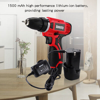 Cordless Drill Driver Two-Speed 12V Lithium-Ion Li-ion Battery & Charger