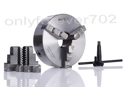 80 / 100 / 125mm Self Centering 3 Jaw Lathe Chuck CNC Lathe Milling Rotary Axis