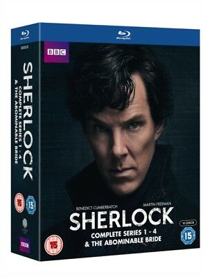 Sherlock (BBC) Series 1 to 4 / The Abominable Bride Blu-Ray NEW BLU-RAY (BBCBD03