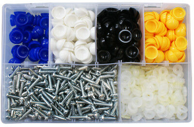 Number Plate Screws Assorted Box Dome Type (Screw,Washer,Dome) QTY 1050 AT168